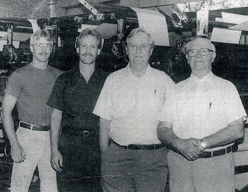 Dave, Steve, Jerry and Erwin Mahlandt